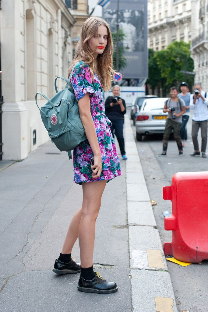 90s street style floral