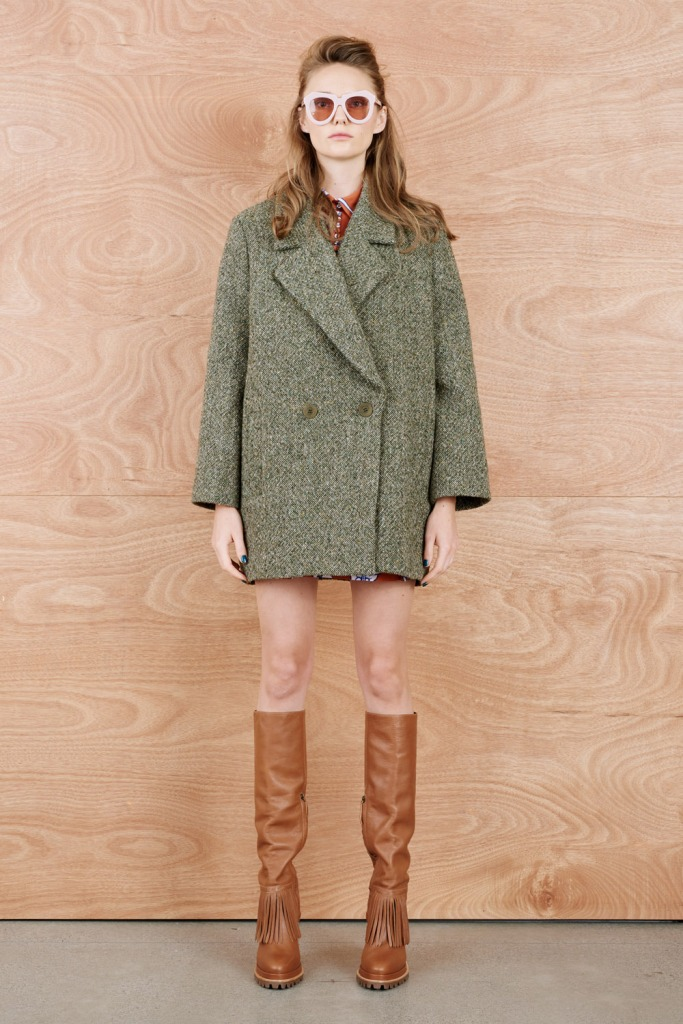 karen walker tweedia coat
