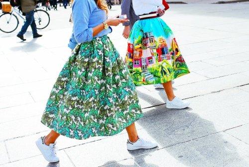 street style pattern full skirt