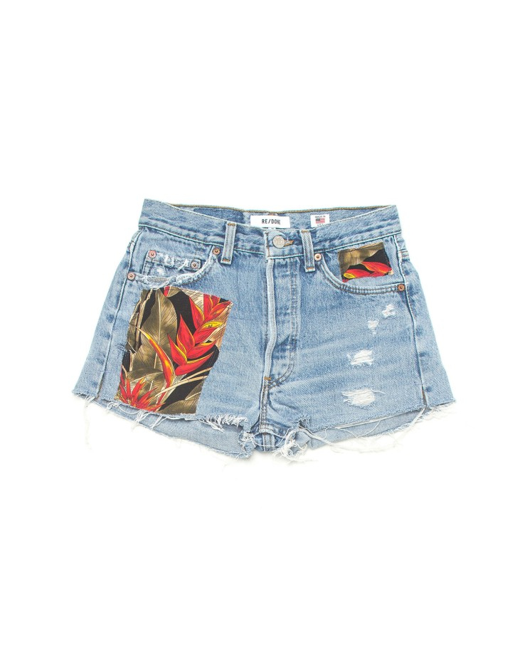 re/done hawaaian shorts