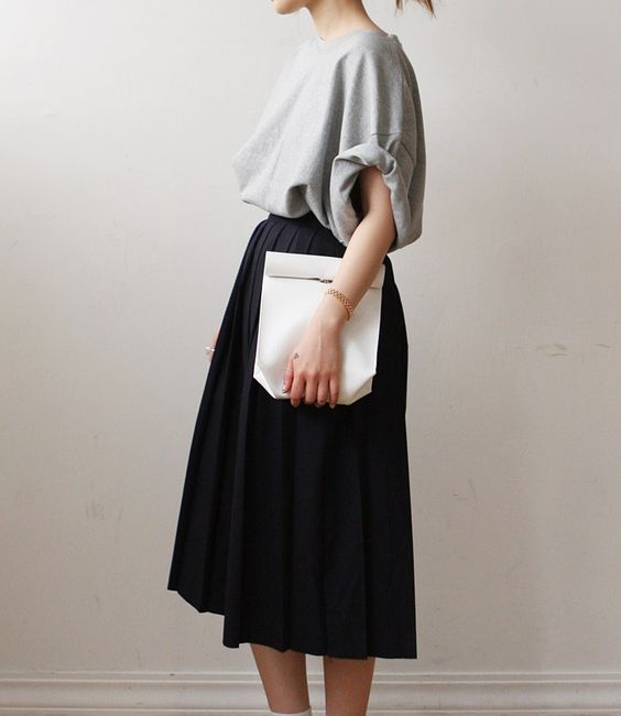 skirt and pouch fashion