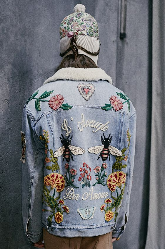 embellished denim gucci