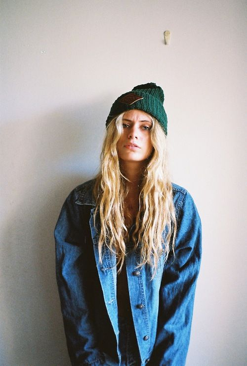 denim jacket beanie
