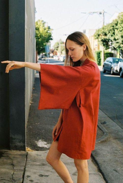 sleeves shift dress