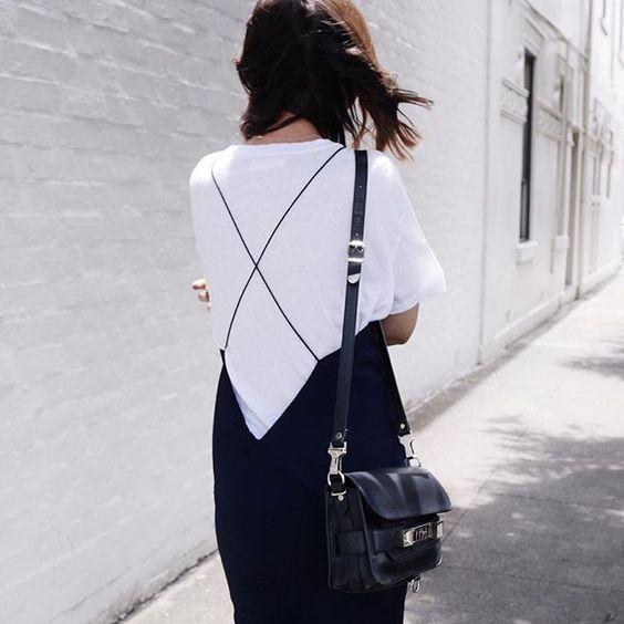 slip dress street style