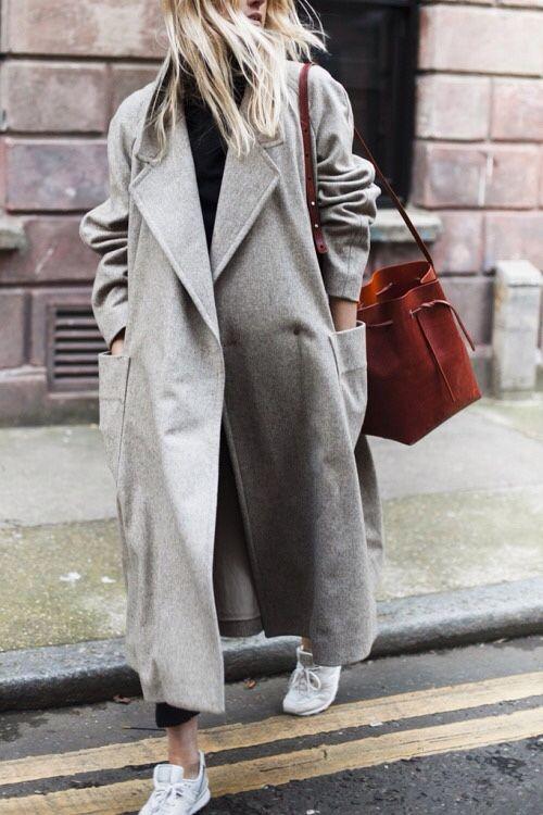 street style oversized coat
