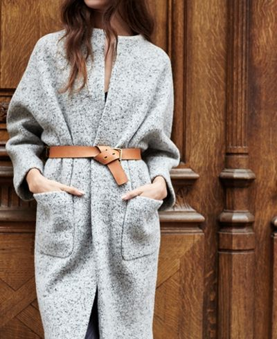 street style belted coat