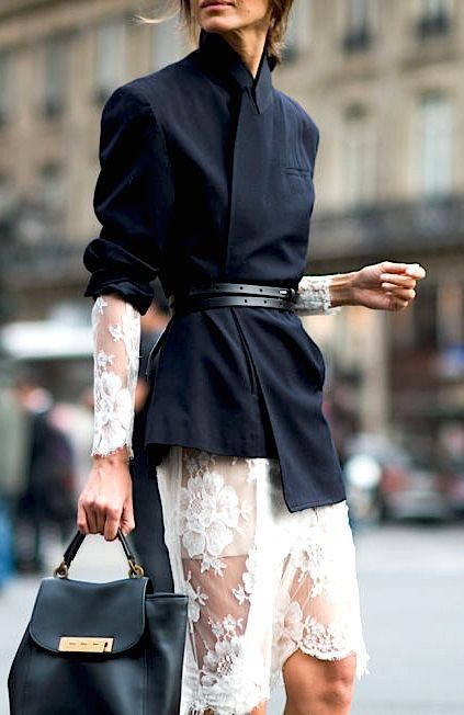belted coat street style