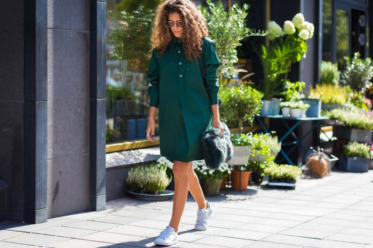 stockholm street style green
