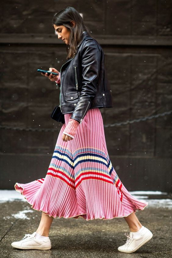 street style pink frill