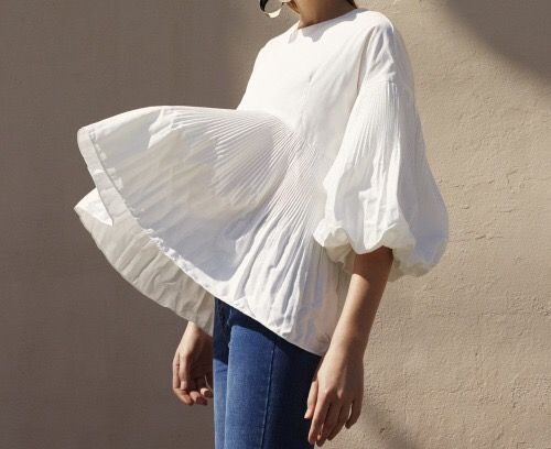 billowing white shirt fashion