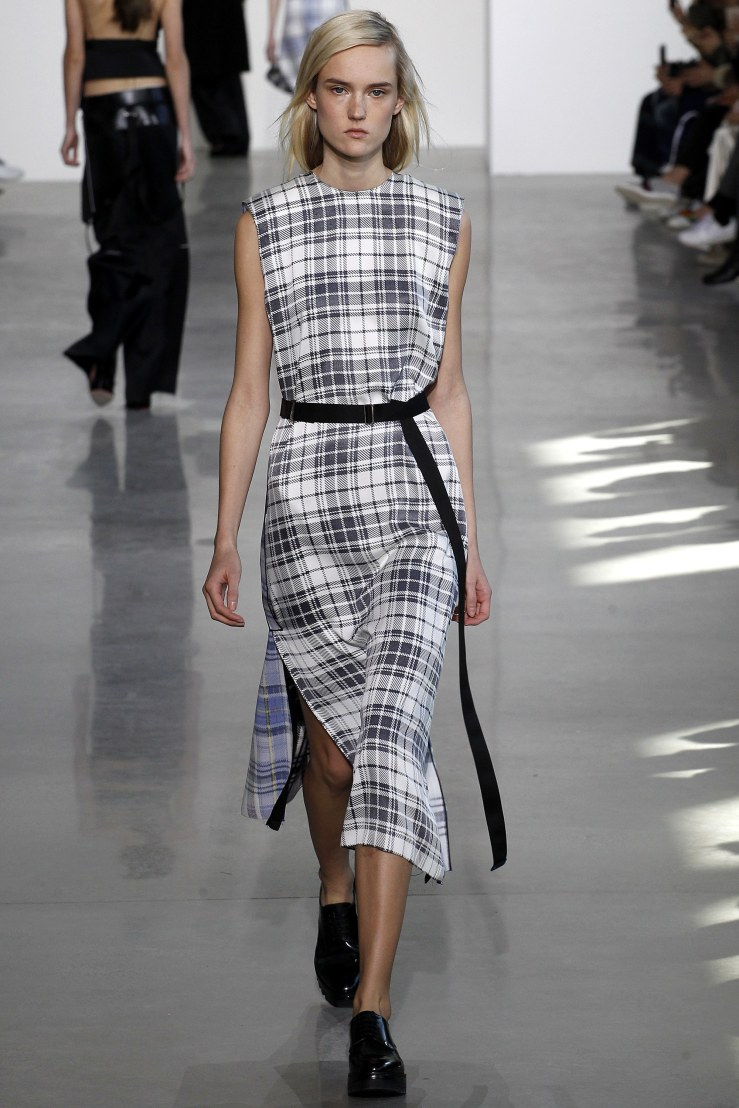 calvin klein plaid dress