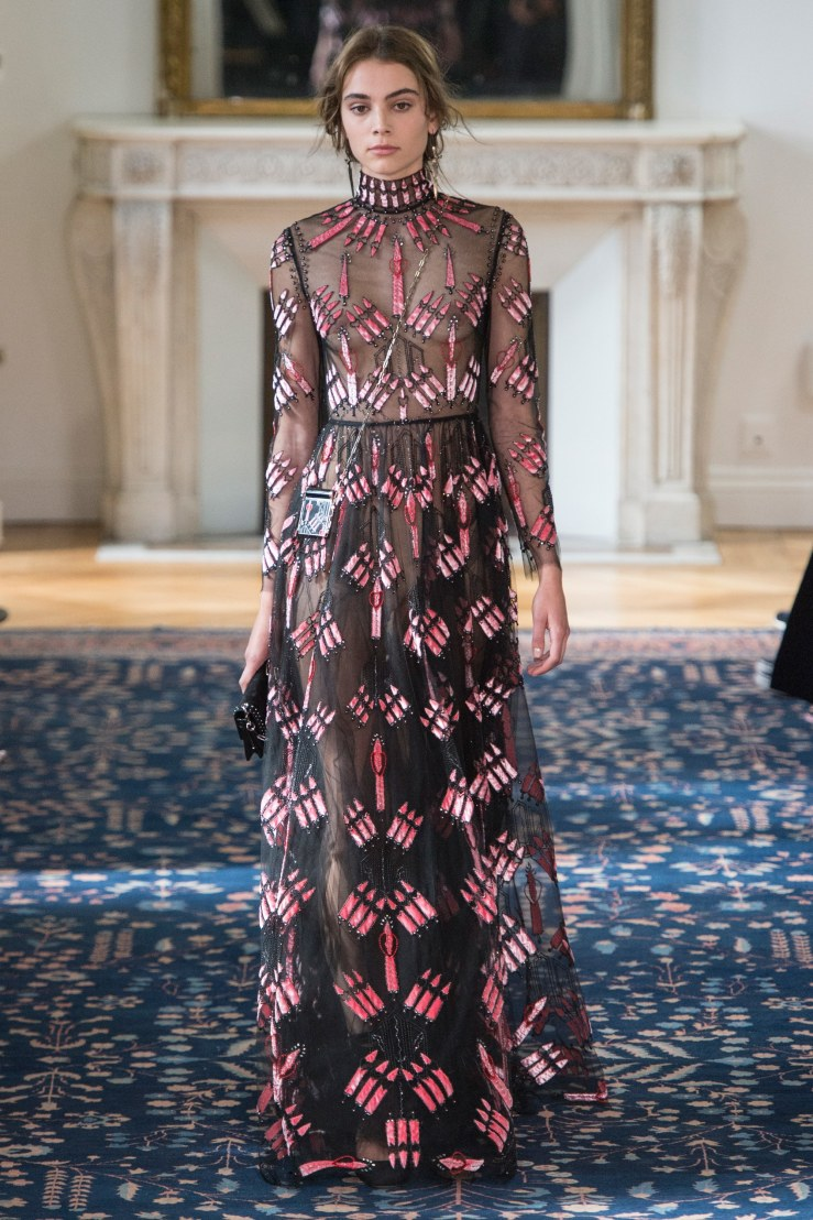 valentino embellished black gown