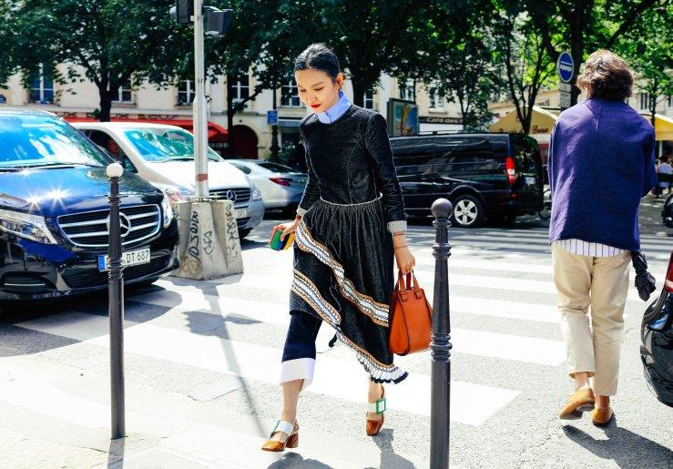 street style layers ruffle fashion