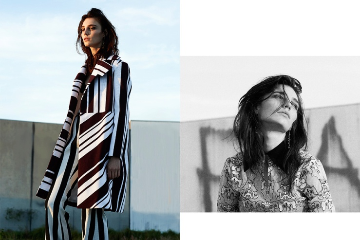 stripes photo shoot fashion