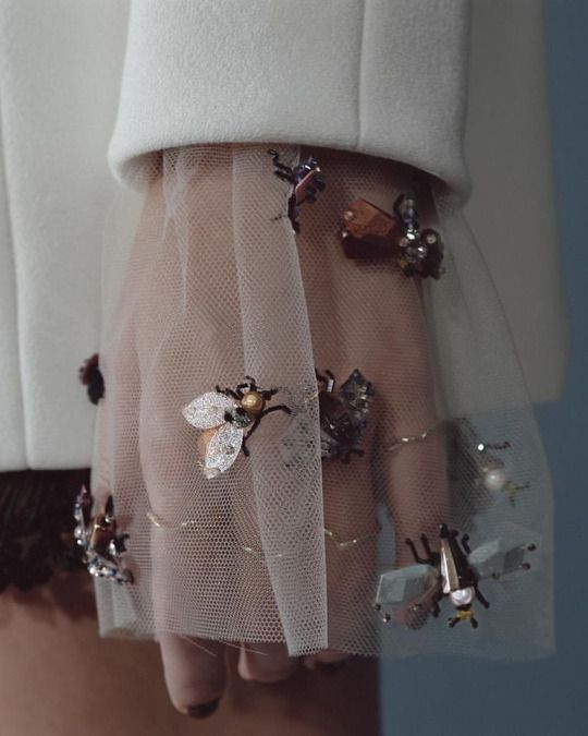 dior embellished beetles sleeve