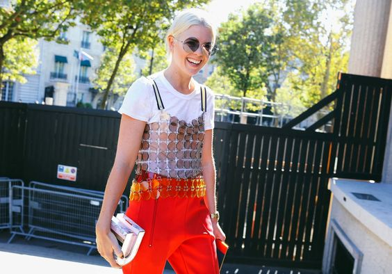 megan bowman gray sequin street style