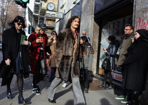 ben cobb fur coat street style