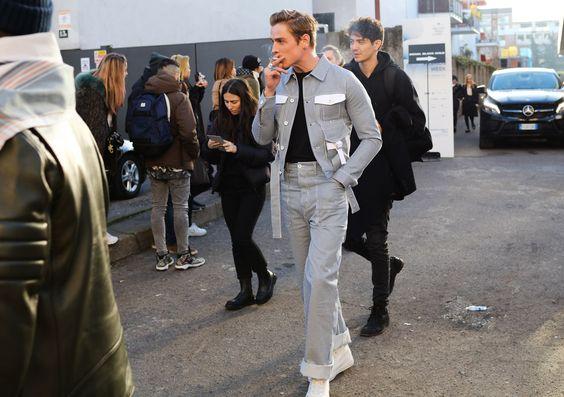 stripe suit menswear street style